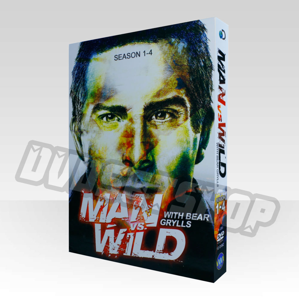 Man Vs Wild Seasons 1-4 DVD Boxset