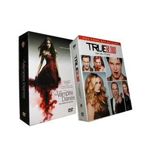The Vampire Diaries Seasons 1-3 & True Blood Seasons 1-5 DVD Box Set
