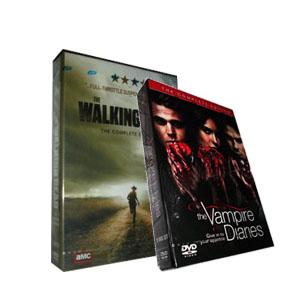 The Walking Dead Season 2 & The Vampire Diaries Season 3 DVD Box Set